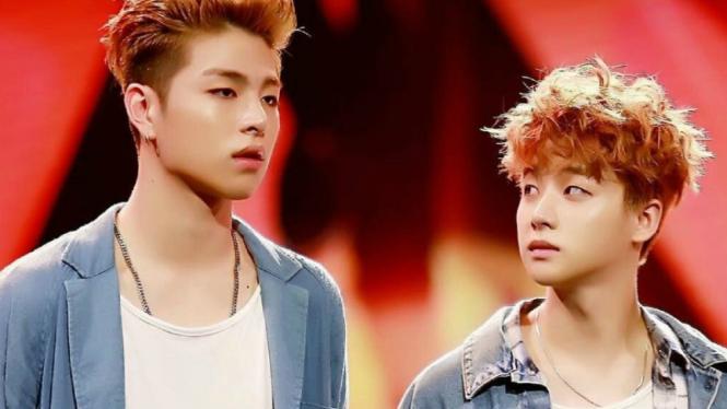 Junhoe and Jinhwan iKON.