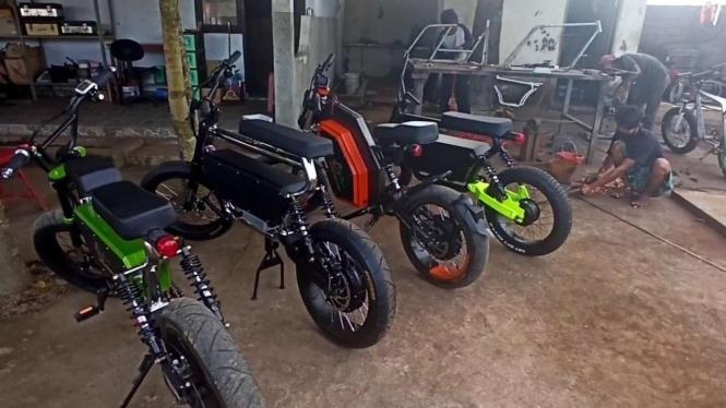 Tangkapan Layar Motor Listrik Buatan Anak Bangsa di Lombok NTB