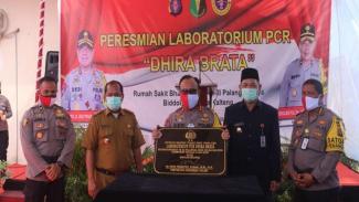 Peresmian Lab PCR di RS Bhayangkara Polda Kalteng