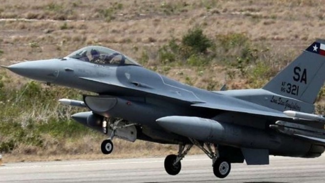 VIVA Militer: Viper F-16 milik militer Amerika.
