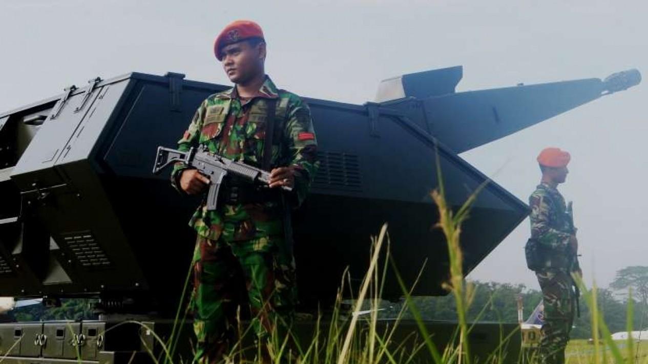VIVA Militer: Sistem pertahanan udara Oerlikon Skyshield MK2 Paskhas TNI AU