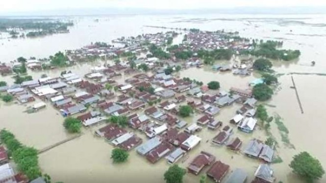Lokasi banjir di Kabupaten Wajo Provinsi Sulawesi Selatan