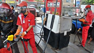 Pertamina Semringah, Transaksi Cashless di SPBU Melejit. (FOTO: Arif Firmansyah)