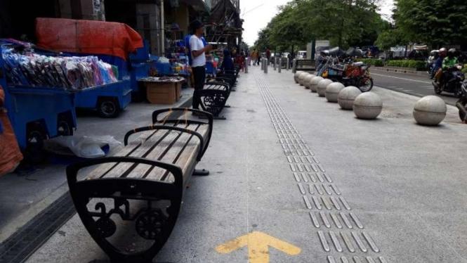 Pedestrian di Jalan Malioboro, Yogyakarta.