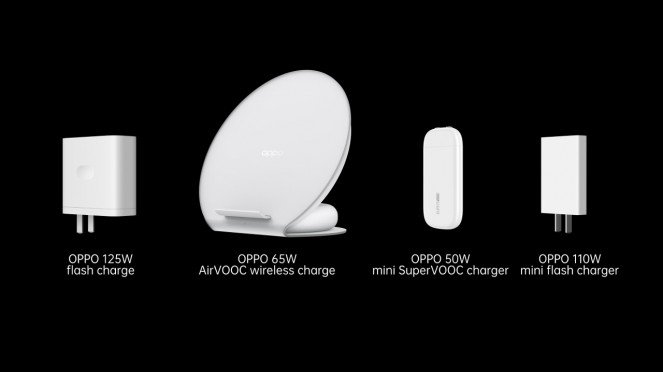 Perangkat flash charge Oppo.