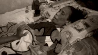 Kondisi pelawak Alm Hj Omas Wati saat menderita sakit