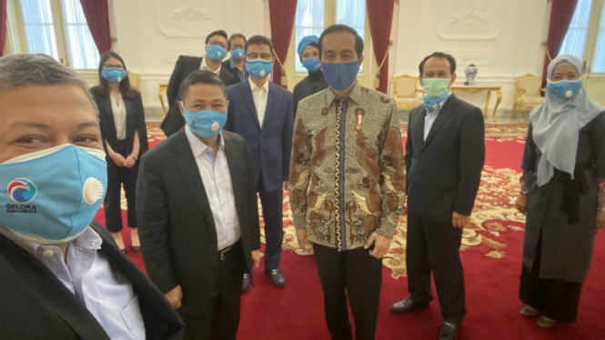 Partai Gelora pimpinan Anis Matta temui Presiden Jokowi