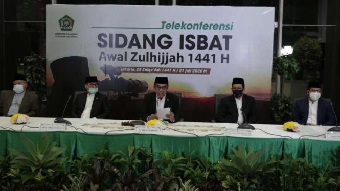 Hasil sidang Isbat Idul Adha 2020