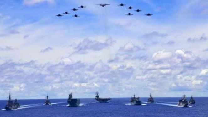 VIVA Militer: Armada tempur Amerika Serikat dan Australia di Laut Filipina