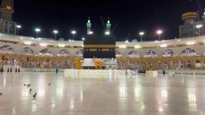 Kabah di Masjidil Haram.