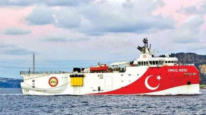 VIVA Militer: Kapal survei Turki,Oruc Reis.