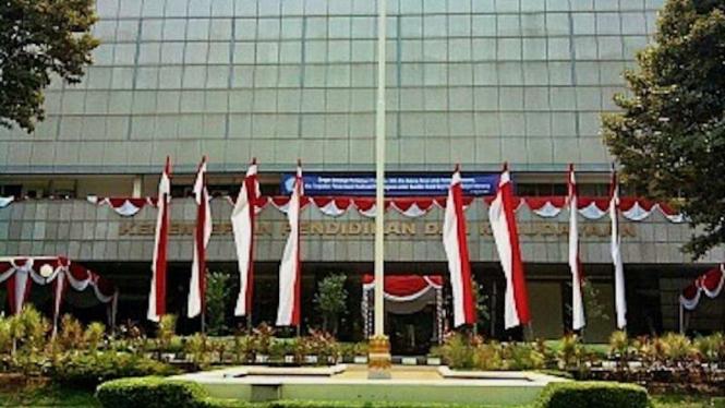 Gedung Kementerian Pendidikan dan Kebudayaan di Jakarta. (Foto ilustrasi)