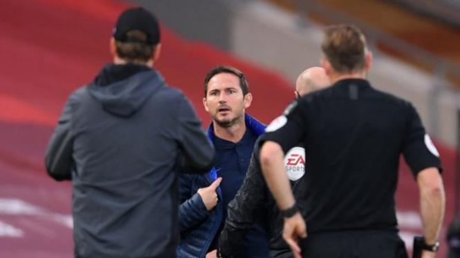 Perseteruan manajer Chelsea, Frank Lampard, dengan Juergen Klopp