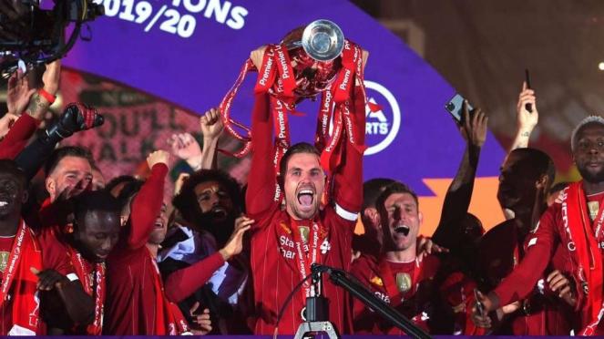 Perayaan juara Liverpool
