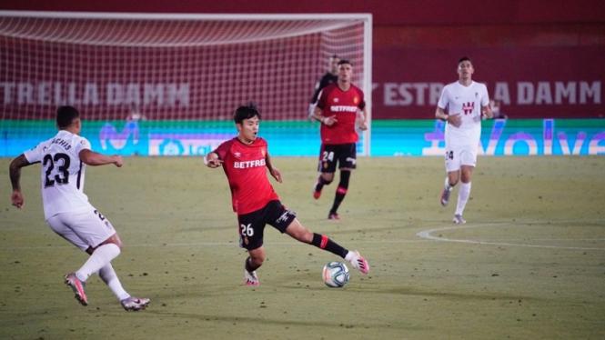 Takefusa Kubo saat dipinjamkan Real Madrid ke Real Mallorca