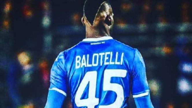Striker Brescia, Mario Balotelli.