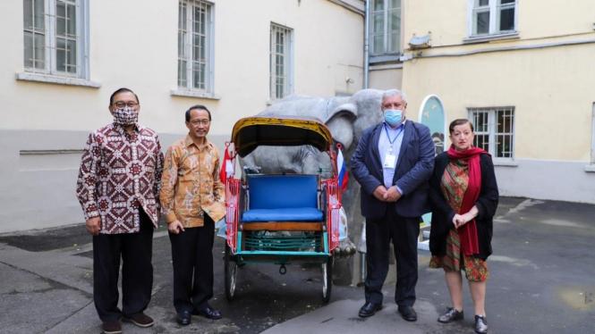 Becak di Yogyakarta jadi koleksi the State Museum of Oriental Art Moskow