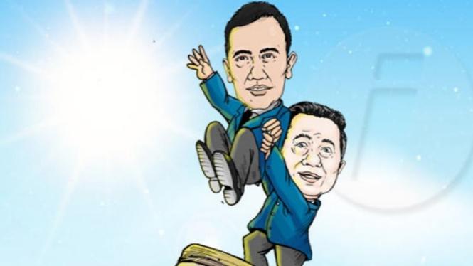 Ilustrasi dinasti politik AHY-SBY (Dendri/Inilah.com)