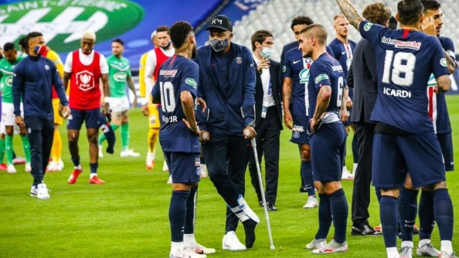Striker PSG, Kylian Mbappe cedera