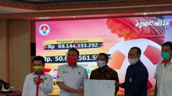 PSSI dan Kemenpora menandatangani fasilitas pelatnas Timnas U-19