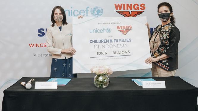 Penandatanganan MoU Wings Group Indonesia dengan UNICEF.