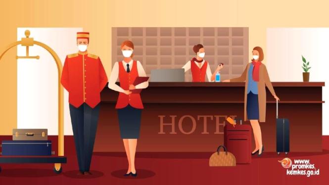 Penerapan protokol adaptasi kebiasaan baru di hotel/tempat penginapan