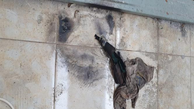 Diduga bom molotov di diSekretariat Pimpinan Anak Cabang (PAC) PDIP Cileungsi