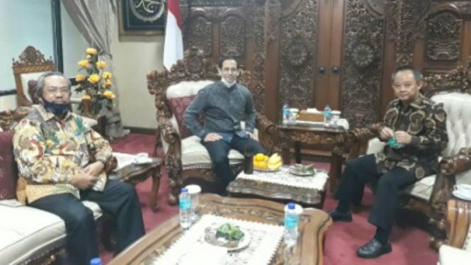 Mendikbud Nadiem Makarim temui pengurus pusat Muhammadiyah