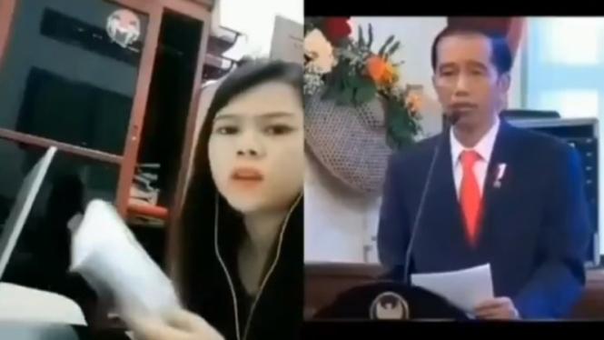 Viral, Video TikTok Jokowi Marah-marah pada seorang mahasiswa