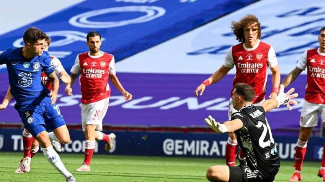 Duel Arsenal vs Chelsea.