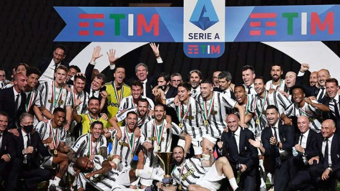Juventus merebut Scudetto Serie A musim 2019/20.