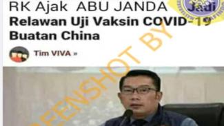 Ridwan Kamil Ajak Abu Janda Jadi Relawan Uji Vaksin Corona, Faktanya