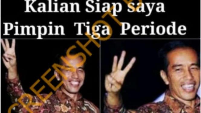 Hoax Jokowi siap memimpin 3 periode