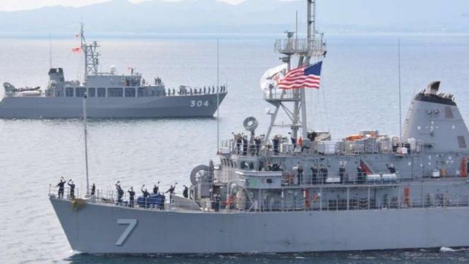 VIVA Militer: Armada perang militer Amerika di Laut China Selatan.