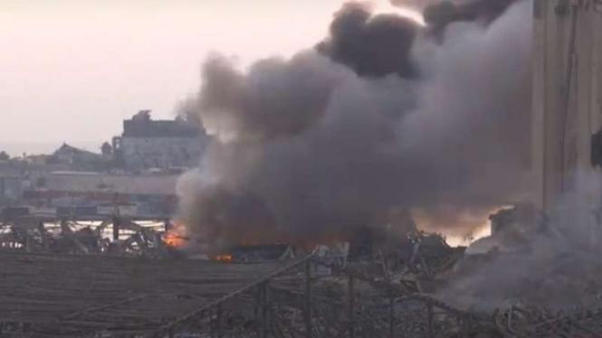 Ledakan di Beirut.