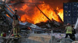 Ledakan besar terjadi di Ibukota Lebanon, Beirut, Selasa, 4 Agustus 2020.