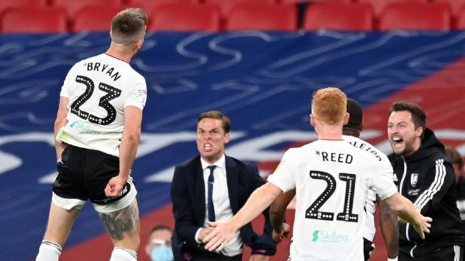 Selebrasi gol ajaib Joe Bryan untuk Fulham