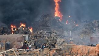 Akibat ledakan di Beirut Lebanon