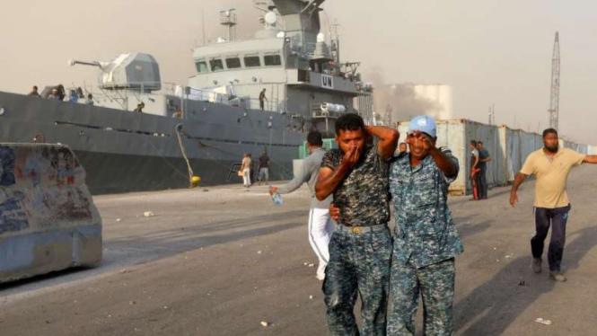 VIVA Militer: Pasukan PBB dari AL Bangladesh terluka di ledakan Lebanon.