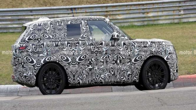 Range Rover terbaru tertangkap kamera diuji di sirkuit