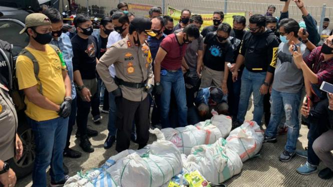 Polisi gagalkan peredaran 200 kg sabu