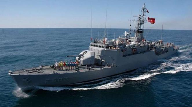 VIVA Militer : Kapal Perang Turki di Laut Mediterania