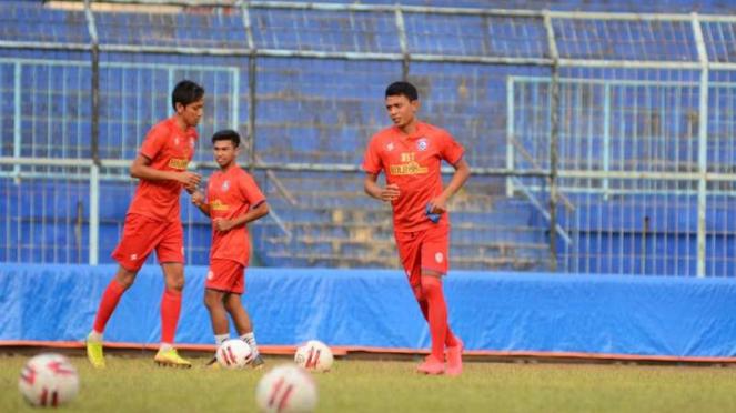 Penyerang Arema FC, Dedik Setiawan.