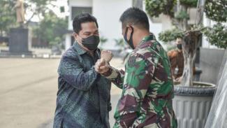 VIVA Militer : Meneg BUMN Erick Tohir bertemu Kasad TNI Jenderal Andika Perkasa