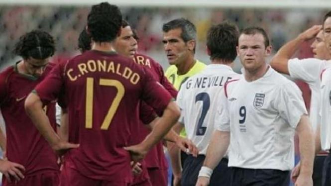 Cristiano Ronaldo dan Wayne Rooney di Piala Dunia 2006