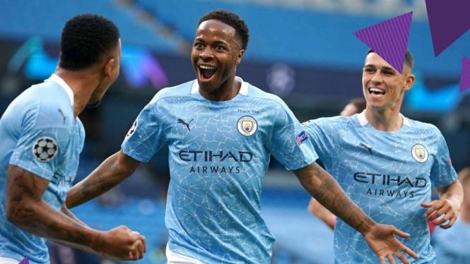 Selebrasi pemain Manchester City