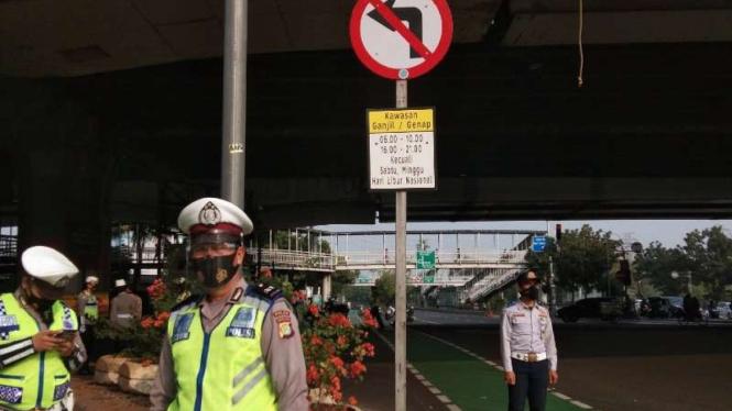 Ganjil genap Jakarta berlaku lagi di new normal