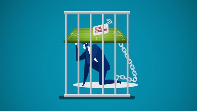 Ilustrasi streaming ilegal siaran langsung sepakbola