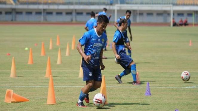 Persib Bandung latihan jelang digelarnya Liga 1