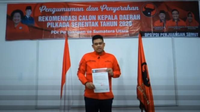 Menantu Jokowi, Bobby Nasution diusung PDIP di Pilkada Medan